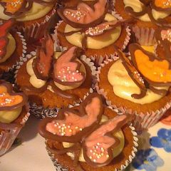 Buttermilk Cupcakes with a Chocolate Butterfly Decoration