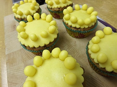 simnel cupcakes marzipaned