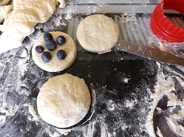 blueberry scone unbaked