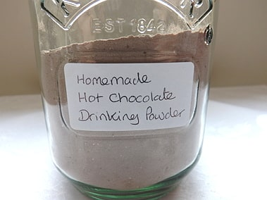 jar of chocolate powder