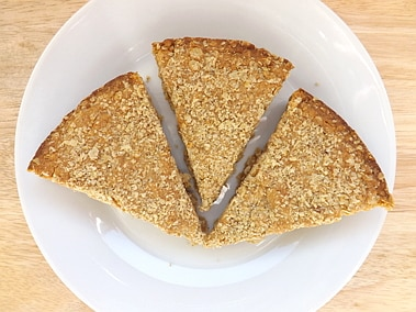 3 oaty crumbles on a plate