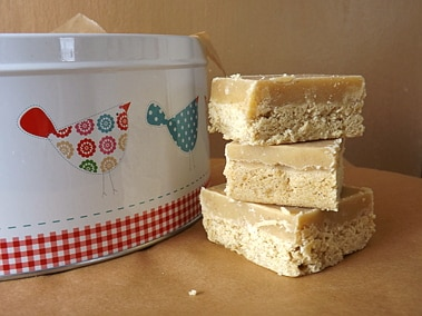 ginger slices stacked by tin