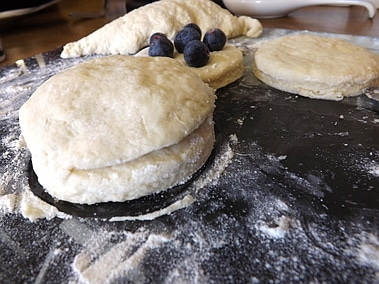unbaked blueberry scone