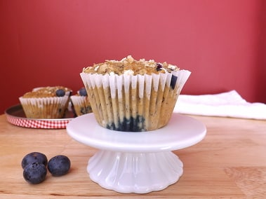 skinny banana and blueberry muffin