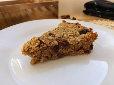 close up of a flapjack