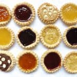 jam tarts all lined up