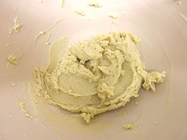 butter, sugars and salt mixed together