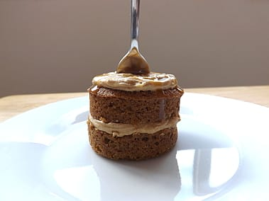 Coffee Cake with Salted Caramel Drizzle