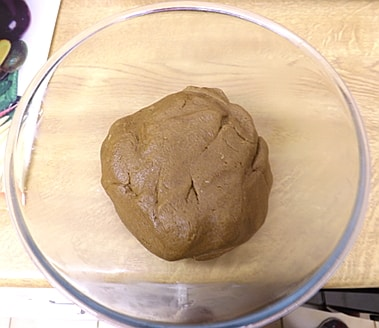 the mixture has now formed a dough ball