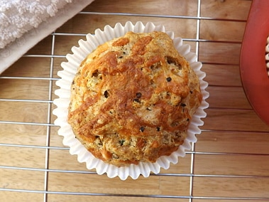 a muffin shot from above