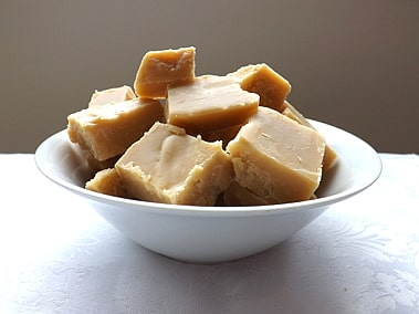 a bowl of scottish tablet