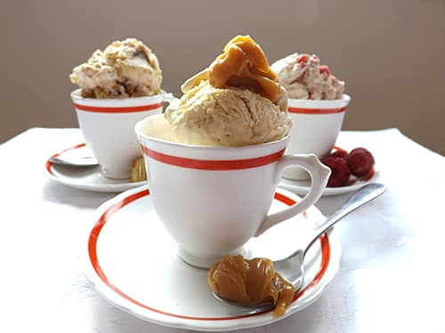 Salted caramel no churn ice cream