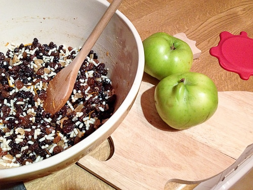 Homemade sweet mincemeat