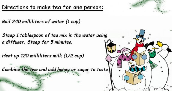 Instructions For Tea