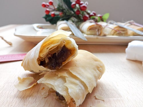 filo cigar mince pie