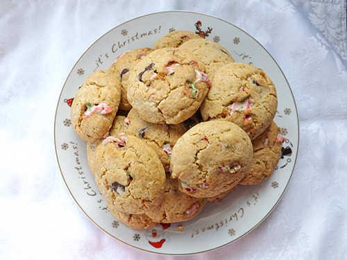 minty candy cane cookies