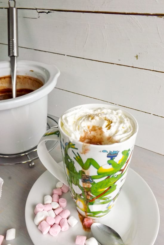 Slow Cooker Spicy Nutella Hot Chocolate