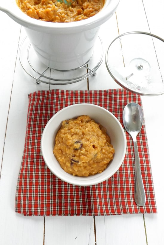 Slow Cooker Pumpkin Pie Rice Pudding
