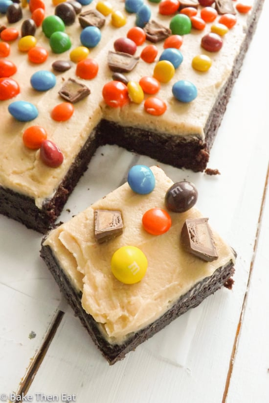 Insane Chocolate and Peanut Butter Sheet Cake