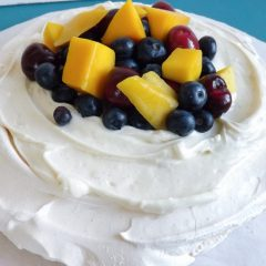 Vanilla Bean Cream Cheese Pavlova with Fresh Fruit