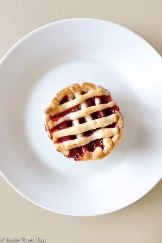 Mini Apple and Raspberry Fruit Pies