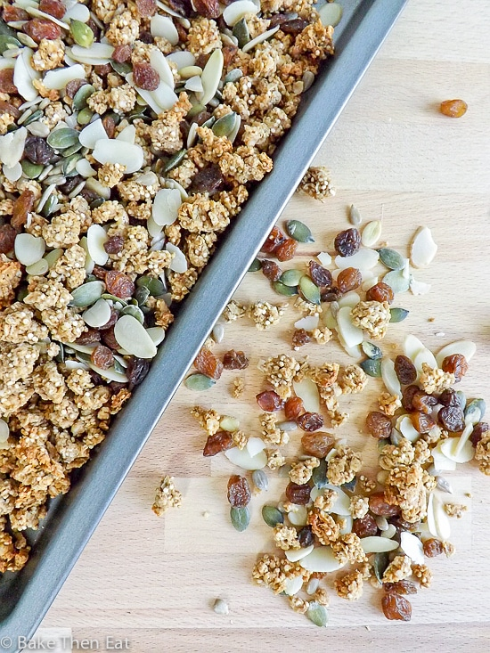 Homemade Peanut Butter Granola
