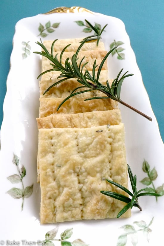 rosemary smoked sea salt cream crackers