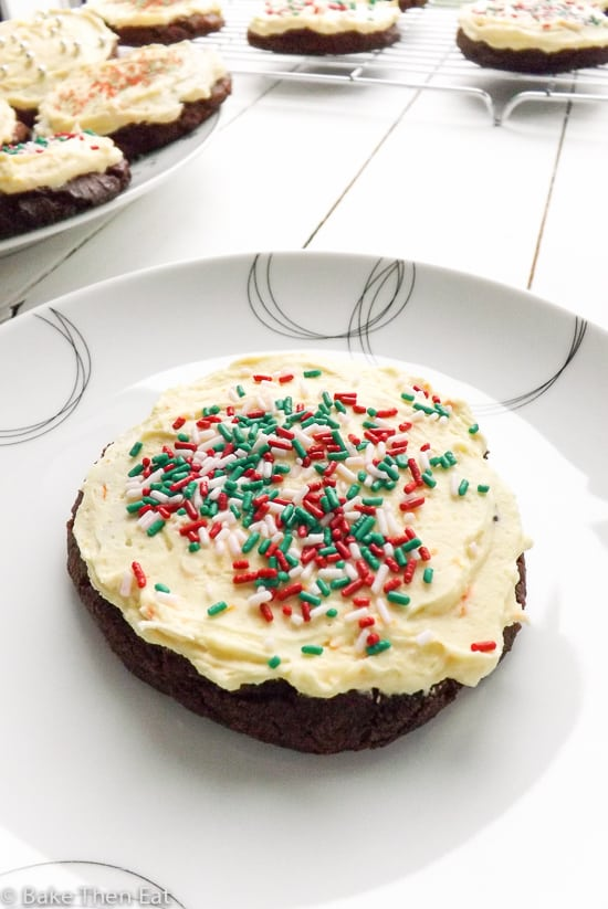 Soft Baked Gingerbread Cookies with Orange Frosting