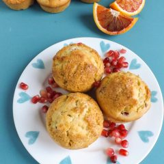 Blood Orange Pomegranate Muffins