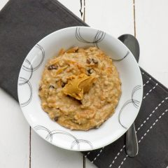 Carrot Cake Peanut Butter 5 Minute Oatmeal