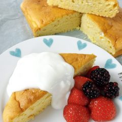 Light Airy Orange Lemon Snack Cake