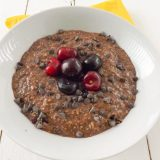 Lactose and Gluten Free Overnight Chocolate Cherry Oats