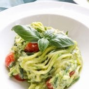 Creamy Avocado Courgetti Zoodles