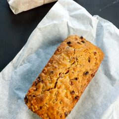 A Golden Fruit Cake As A Christmas Cake