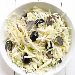 Sweet Crispy Cabbage Salad with Lime Dressing