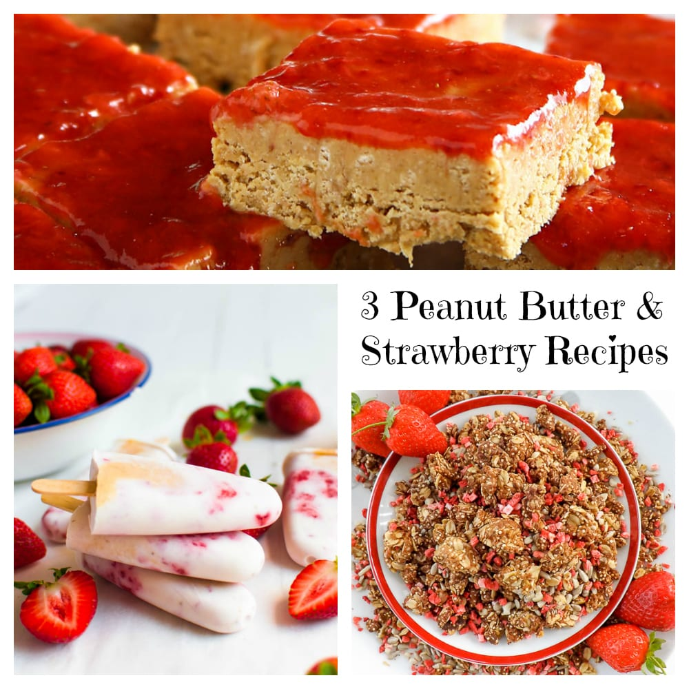 3 Tasty Peanut Butter Strawberry Recipes - Get fruity your peanut butter recipes with strawberries!