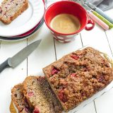 Reduced Sugar Strawberry Banana Bread