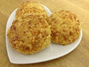 a plate of cheese scones