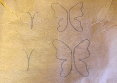 stencil for the chocolate butterfly