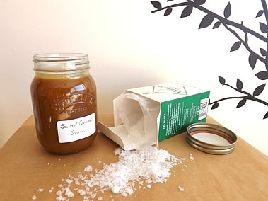 Salted Caramel Sauce & Salt