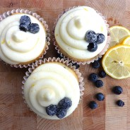 Lemon and Blueberry Cupcakes