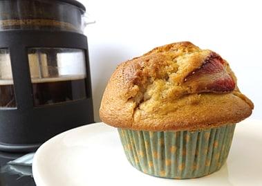 strawberry and vanilla muffin