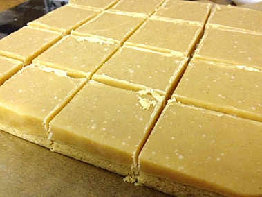 ginger slices cut into squares