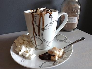half drunk hot chocolate