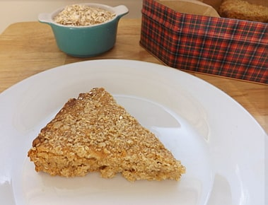 oaty crumble on a plate