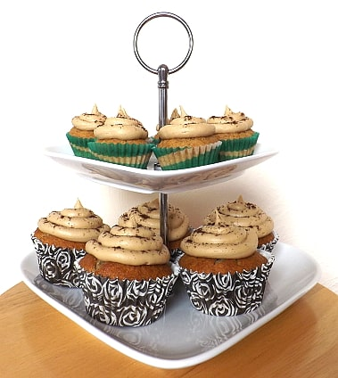 cupcakes on a cake stand