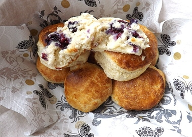 open blueberry scone