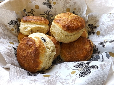 scones in basket
