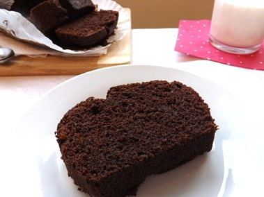 slice of chocolate and coffee loaf
