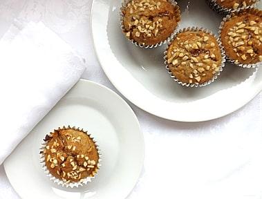 Banana, Nut & Caramel Muffins